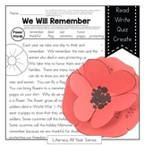 Power Passages {We Remember} Comprehension, Fluency, Close