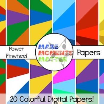 Power Pinwheels  --  A Digital Paper Pack!