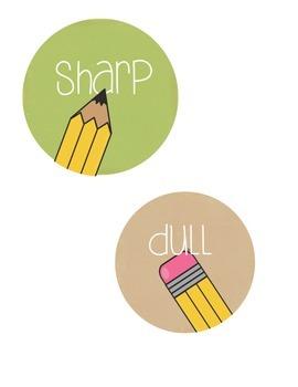 Power Pix wall label & pencil labels
