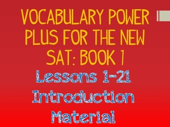 Power Plus Vocabulary Book One Bundle
