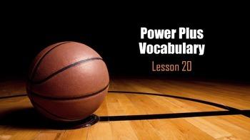 Power Plus Vocabulary: Book One: Lesson Twenty