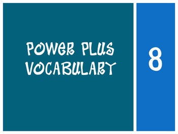 Power Plus Vocabulary:Book One: Lesson Eight