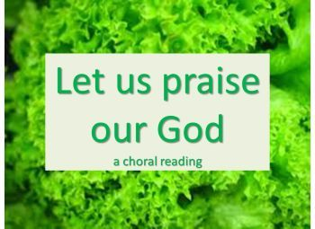 "Power Point: 2 Choral readings ""Let us"""