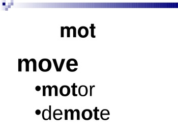 Power Point Accompaniment for Word Within the Word List 16