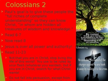 Power Point- Colossians