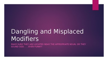 Power Point - Dangling & Misplaced Modifiers