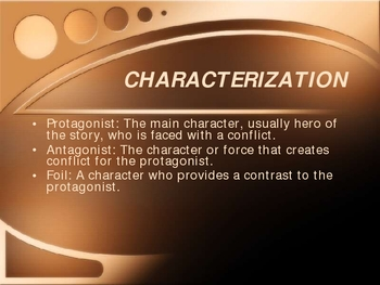Power Point Describing Important Literary Elements