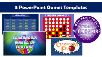 Power Point Games Pack (5 customizable templates)