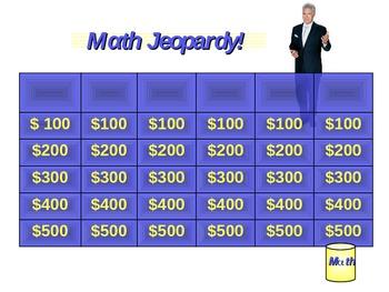Power Point Jeopardy Game