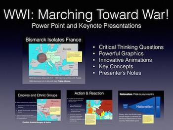 World War 1 Marching Toward War 1870-1914 PowerPoint / Keynote Presentation