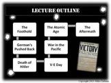 """World War 2 - """"D-Day to V-E Day"""" - Engaging and Visually Powerpoint Lecture"""