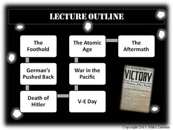 D-Day to V-E Day Powerpoint Lecture:  A Dynamic, Clear and