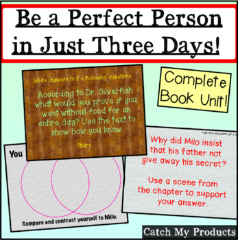 Be A Perfect Person in Just Three Days! Literary Unit