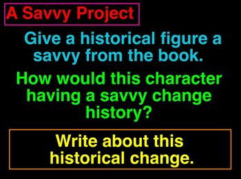 "Power Point: Literary Unit for ""Savvy"" by Ingrid Law, Chapters 11-15"