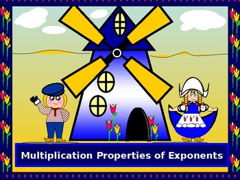Power Point:  Multiplication Properties of Exponents with GUIDED NOTES