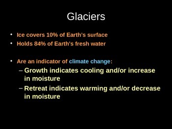 Power-Point Notes on Glaciers
