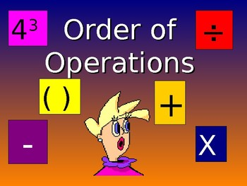 Power Point - Order of Opertions