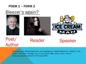 Power Point - Poetry: Speaker