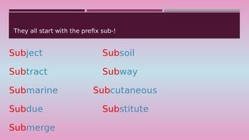 Power Point Prefix Sub