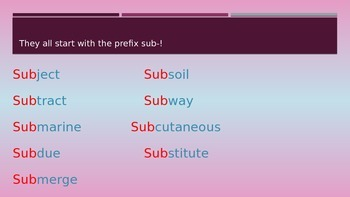 Power Point Prefix Sub