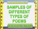 Power Point Presentation-Acrostic, Biographical, Diamond/D