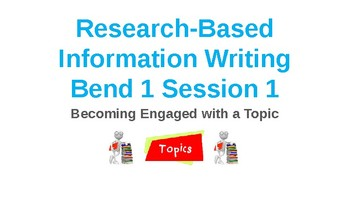 Power Point Presentation for Lucy Calkins Research Information Essay Bend 1