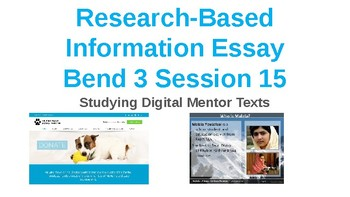 Power Point Presentation for Lucy Calkins Research Information Essay Bend 3
