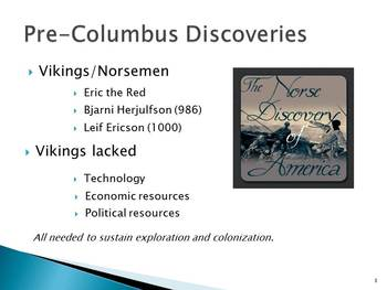 Power Point Presentation for Unit I US History