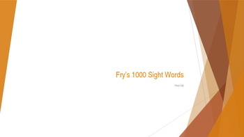 Power Point Presentation of Fry's 300 words