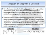 Power Point Presentation of Midpoint and Distance