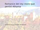 Power Point Presentation on Romance del Rey Moro for AP Sp