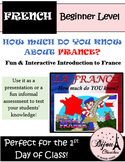 HOW MUCH DO YOU KNOW ABOUT FRANCE? Perfect 1st Day of Class activity (BEGINNERS)