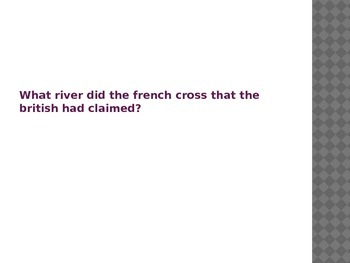 Power Point Review of the French and Indian War