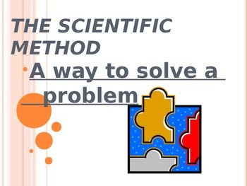 Power Point: Scientific Method