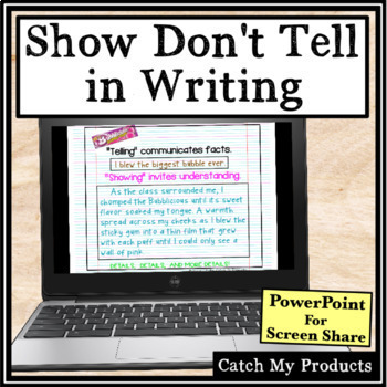 Show Don't Tell Writing