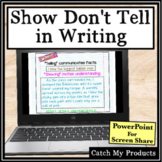 Show Don't Tell Writing in PowerPoint for Classroom or Scr