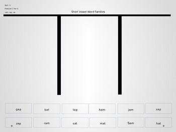 Power Point Slides for  Word Family Same Vowel Sorts