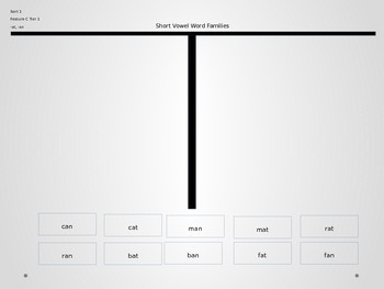 Power Point Slides for  Word Family Same Vowel Sorts