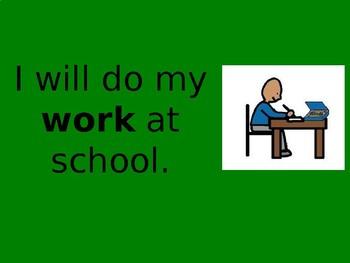 "Social Story Power Point ""I will do my work"""