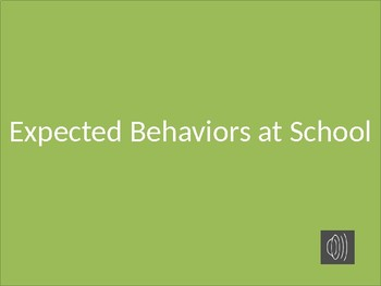 Power Point Social Story with Audio for Expected Behavior