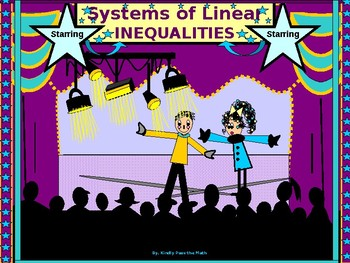 Algebra Power Point:  Systems of Linear Inequalities with GUIDED NOTES