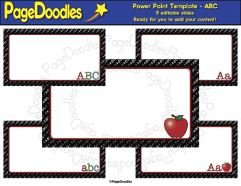 Power Point Template, ABC, for TPT Sellers - High Quality Vector Graphics