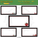 Power Point Template - ABCs - Editable - Ready for you to add your content!