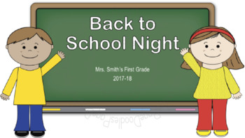 Power Point Template, Back to School Night, for TPT Sellers