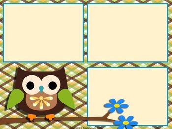 PowerPoint Design Forest Owls