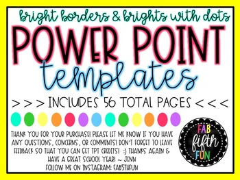 Power point template pack by fab 5th fun teachers pay teachers power point template pack toneelgroepblik Choice Image