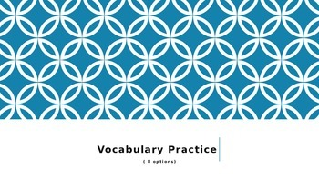 Power Point Template Pages for Vocabulary Practice