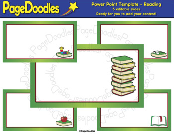 Power Point Template for TPT Sellers, Reading - High Quality Vector Graphics