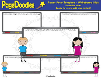 Power Point Template for TPT Sellers, Whiteboard Kids-High Quality Graphics