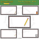 Power Point Template - Writing - Editable - Ready for you to add your content!